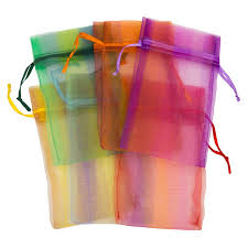 large organza bags organza pouch large stripes mix gift bags for wedding