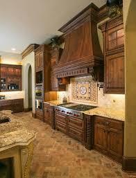 brick kitchen ideas houzz mediterranean homes with a black grey roof this kitchen is