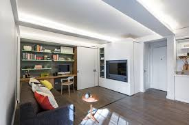Movable Walls For Apartments Sliding Wall And Hidden Bed Transform Small New York Apartment
