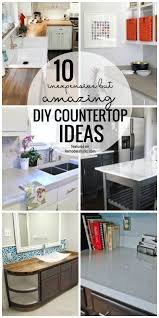 inexpensive kitchen countertop ideas remodelaholic 10 inexpensive but amazing diy countertop ideas