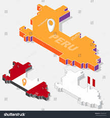 Peru On Map Peru Flag On Map Element 3d Stock Vector 556483165 Shutterstock