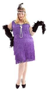 Size Flapper Halloween Costumes Size Purple Flapper Costume