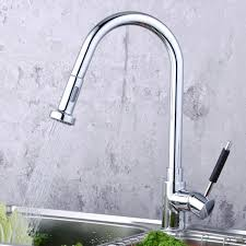 kitchen faucets pull contemporary solid brass pull kitchen faucet chrome finish