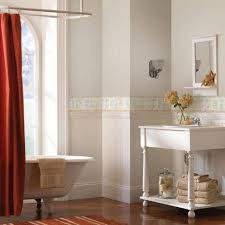 bathroom bathrooms wallpaper borders and red curtain and mini