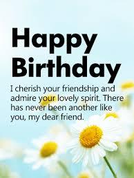 i cherish your friendship happy birthday wishes card birthday