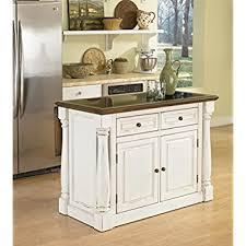 granite top kitchen island amazon com home styles nantucket granite top kitchen island and