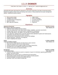 best solutions of sample resume electrician with format layout