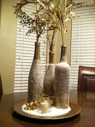 Gold Christmas Centerpieces - beautifullovelythings diy christmas decor post 2