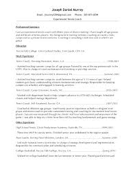 professional resumes sle resume 2015 tennis