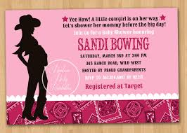 Baby Shower Invitation Cards Cowgirl Baby Shower Invitations Theruntime Com