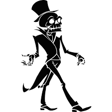 skeleton in top hat halloween wall sticker decal ebay skeleton in top hat halloween wall sticker decal