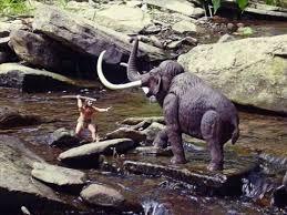 aurora prehistoric scenes cro magnon man woolly mammoth