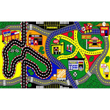 Kid Play Rug Natco My Town 3 Ft X 5 Ft Play Mat 2571 91 20b The Home Depot