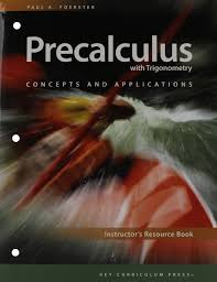 precalculus with trigonometry concepts and applications