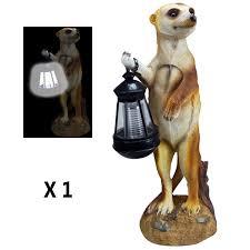 kingfisher garden lighting solar meerkat light with lantern slmc1