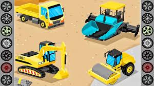 trucks construction game cartoon for children trucks for