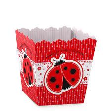 ladybug shower invitations modern ladybug personalized baby shower candy boxes