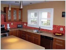 Red Mosaic Tile Backsplash red mosaic tiles ruby glass mosaic 30x30 cracked red and black