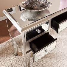 Silver Sofa Table Southern Enterprises Mirage Mirrored Console Table In Silver Cm9157