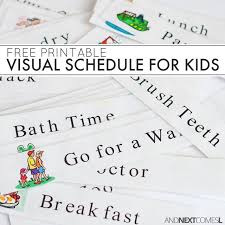 printable evening schedule free printable daily visual schedule sensory processing disorder