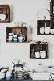 kitchen wall shelf ideas love the boxes great way to clear up cabinets and use dishes to