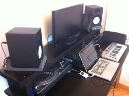 Studio Monitors On Desk by How To Create A Professional Dj Booth From Ikea Parts Dj Techtools