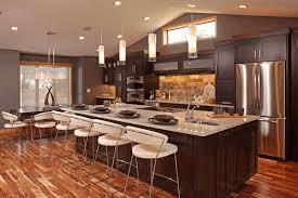 Vintage Galley Kitchen - long galley kitchen ideas backrest blue leather bar stools dark