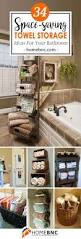 Bathroom Towel Decorating Ideas Top 25 Best Bathroom Towel Storage Ideas On Pinterest Towel