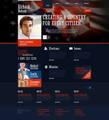 informational website templates political candidate responsive website template 45312