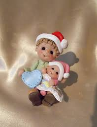 big brother baby sister sibling first christmas personalized