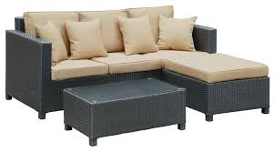 Outdoor Sofa Sets by Urban 3 Piece Outdoor Patio Sofa Set Tropical Outdoor Lounge