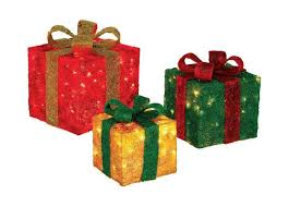 pre lit gift boxes outdoor presents yard decor