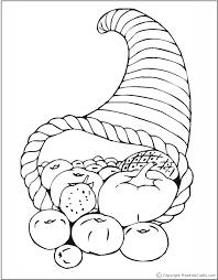 cornucopia coloring pages getcoloringpages