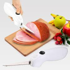 stainless steel auto electric steak knife one touch cordless knife