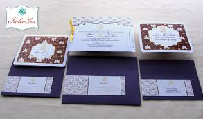 Wedding Invitation Hindu Ganesh Purple Ganesh Indian Wedding Invitation Hindu Lotus Floral Step Tab