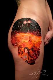 tattoo artist nick chaboya jolene skull nebula tattoos