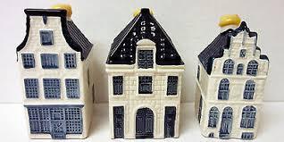 3 klm bols delft original miniature porcelain houses 22 23 64