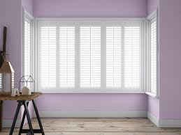 full height box square bay window shutters absolute plantation