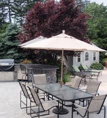 Patio Table Umbrella Walmart by Patio 19 White Patio Umbrellas Walmart With Dining Set And