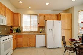 best appliance color with honey oak cabinets oak cabinets countertop colors search white