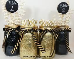 black and gold centerpieces black and gold decor etsy