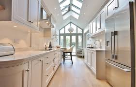 long kitchens light color wood dining space white wooden kitchen