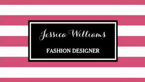 Business Card Fashion Designer Girly Fashion Designer And Style Consultant Business Cards Girly
