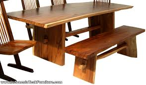 wooden table and bench table factory natural solid wood table bench furniture set from bali