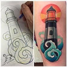 new school water tattoo powerline tattoo tattoos nature water new school lighthouse tattoo