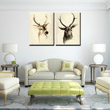 framed art prints on canvas for living room deers canvas wall art