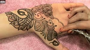hand tatoo image beautiful peacock henna mehndi design bridal mehandi diy designer