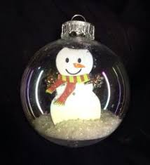 snowman snow globe ornament by langanfamilyfinds on etsy 4 00