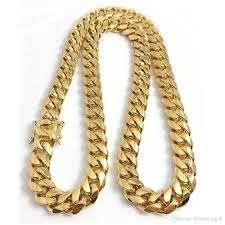 stainless chain link necklace images Online cheap stainless steel jewelry 18k gold plated high polished jpg