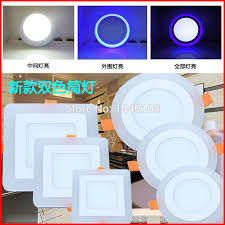 flat square ceiling lights 2015 newest 12w square double color blue white acrylic smd3528